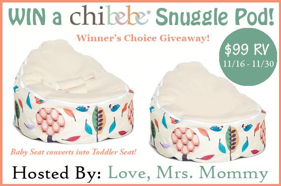 Chibebe Snuggle Pod Giveaway (11/16-11/30/16)