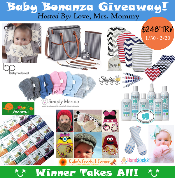 Baby Bonanza Giveaway – $248+ worth of prizes! (1/30-2/20;US only)