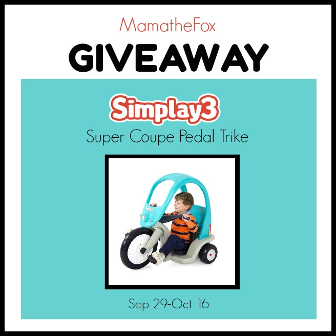 Simplay 3 Trike Giveaway (9/29-10/16; USA)