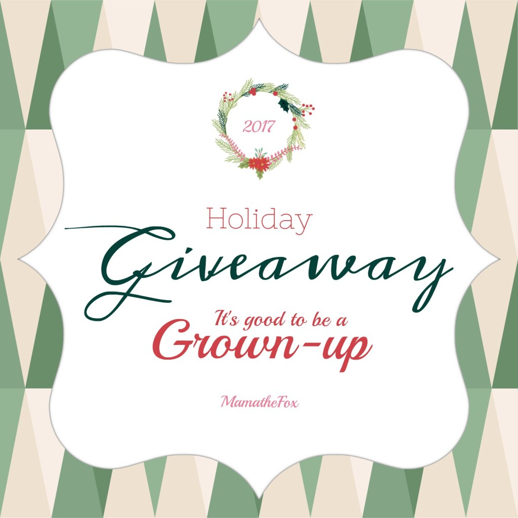 It's Good to be a Grownup Giveaway (12/2 – 12/16; USA)
