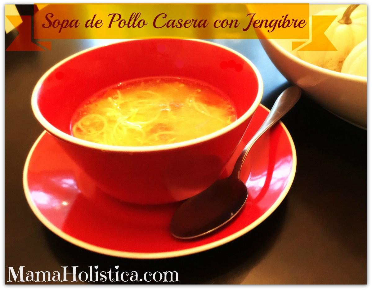 Recetas Holísticas: Sopa de Pollo Casera con Jengibre.
