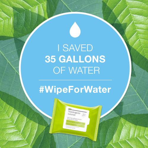 Ahorra #Agua en este Mes de la Tierra con Neutrogena® Naturals. Sorteo. #WipeforWater #EarthMonth