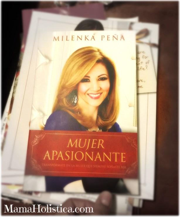 """Libro """"Mujer apasionante"""" por Milenka Peña."""