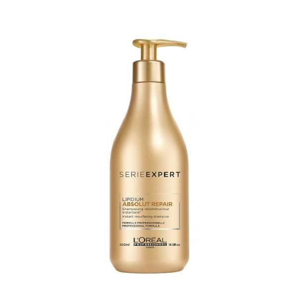 Šampūnas pažeistiems plaukams Loreal Absolut Repair Lipidium 500ml