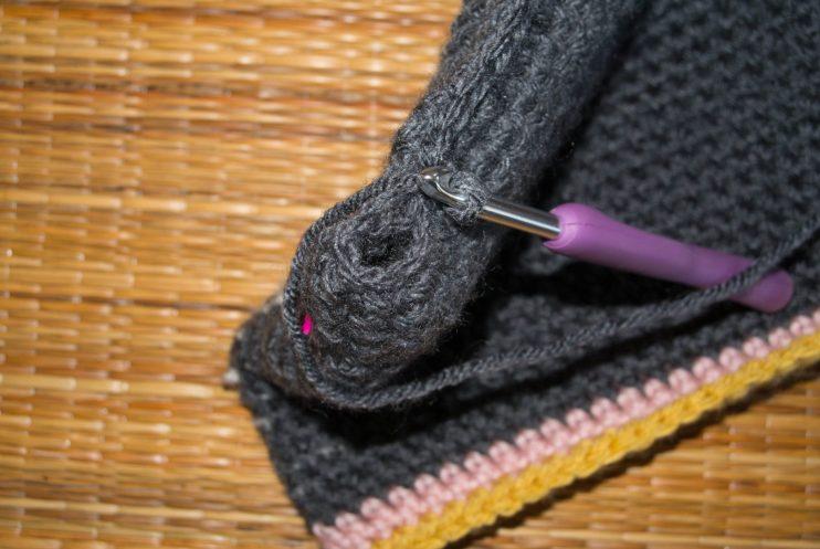 Tapestry Crochet Bag Seam