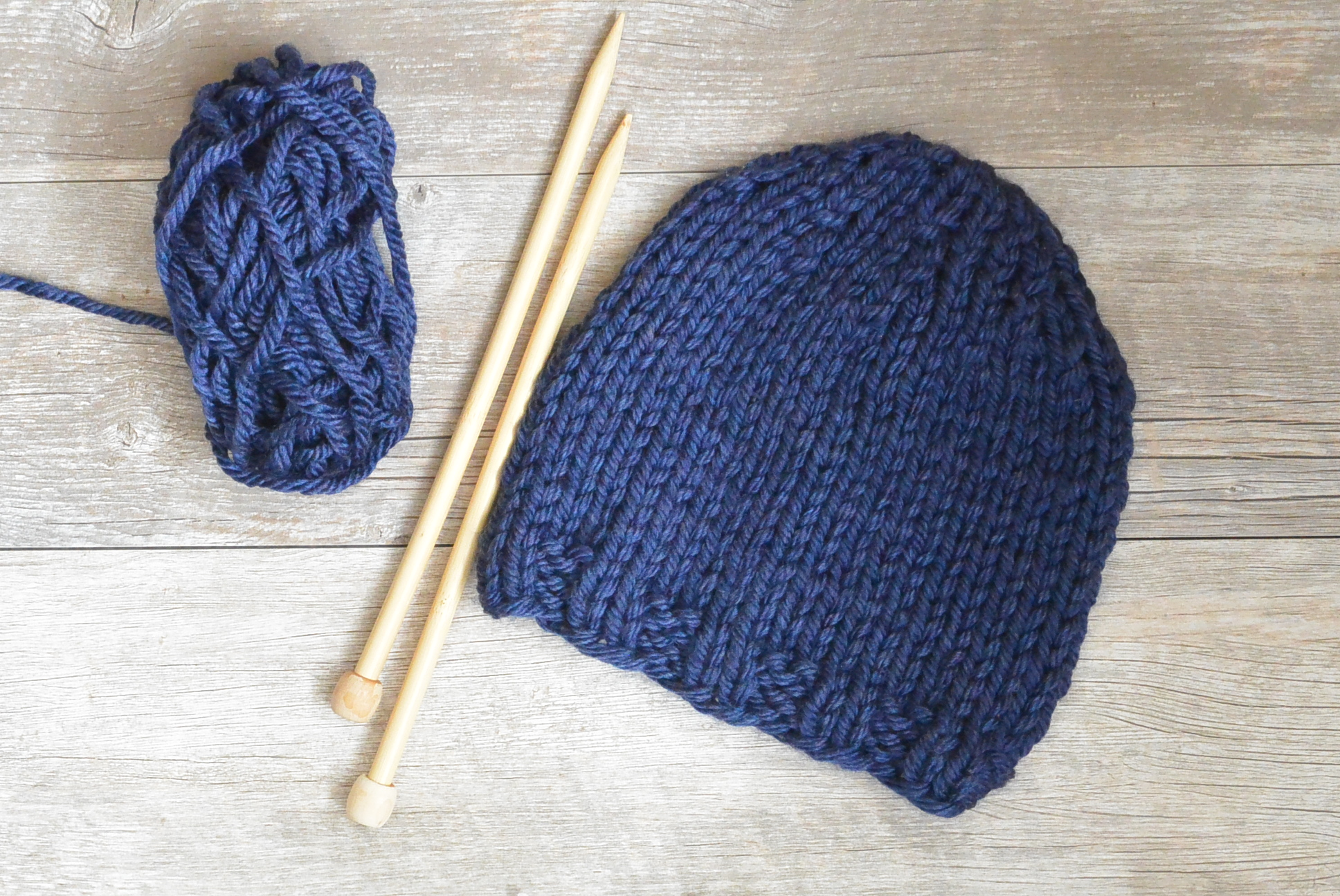 Basic Beginner Knit Hat for Kids and Adults - Knitting