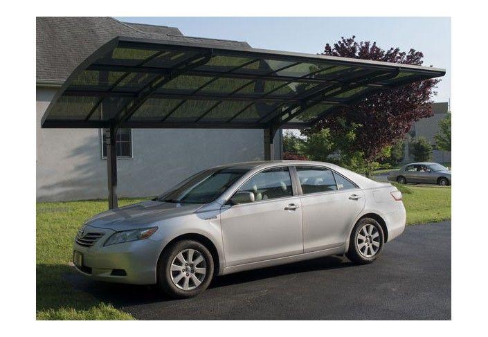 carport aluminium asymetrique 2 pieds