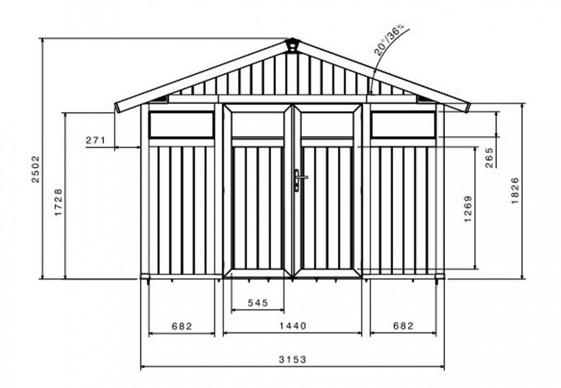 Abri Jardin PVC Rsine Utility 75 VERT GROSFILLEX 315 X