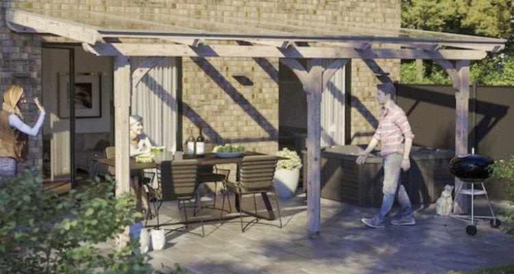 abri terrasse en bois un toit en kit