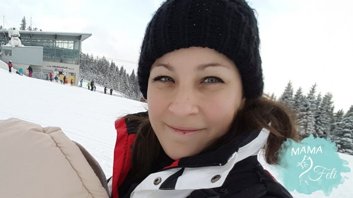 me wearing in snow