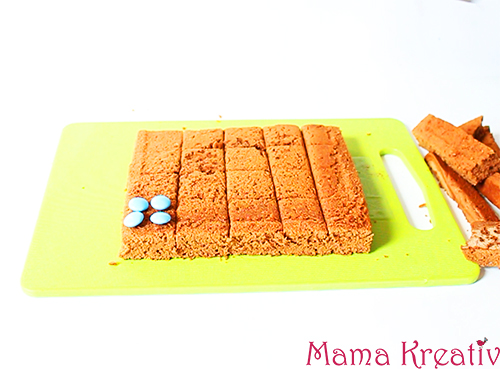 lego kuchen mit brownies und smarties rezept video. Black Bedroom Furniture Sets. Home Design Ideas