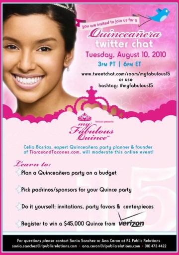 Quinceañera Twitter Chat