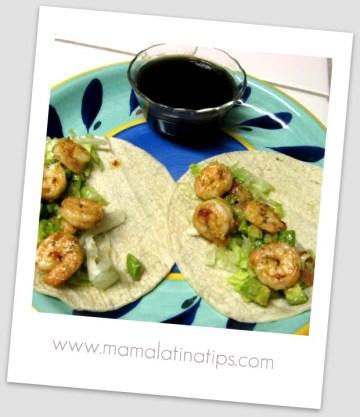 Shrimp and Guacamole Tacos