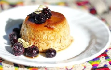 Blueberry Lemon Flan