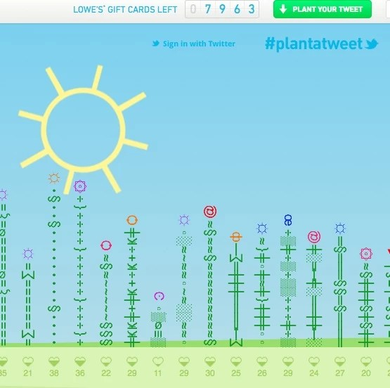 Planting Virtual and Natural Flowers