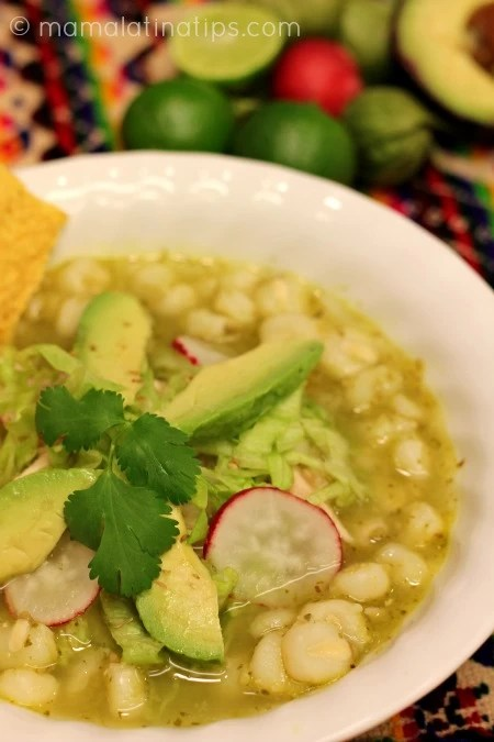 Green Pozole with Chicken