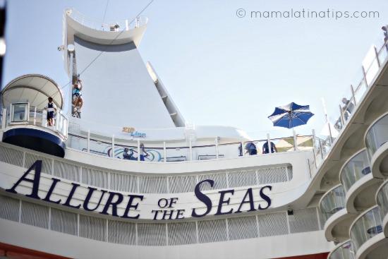zipline in royal Caribbean Allure of the Seas