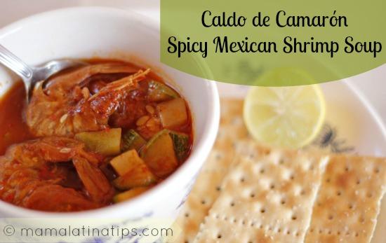 Spicy shrimp soup 7 weeks of lenten recipes mama latina tips forumfinder Gallery