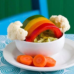 St. Patricks Over the Veggie Rainbow snack