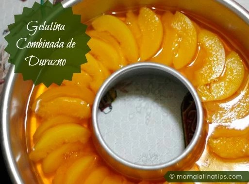 peach and milk gelatin