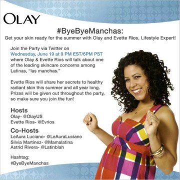 Join us for a #ByeByeManchas Twitter Party with Lifestyle Expert Evette Rios