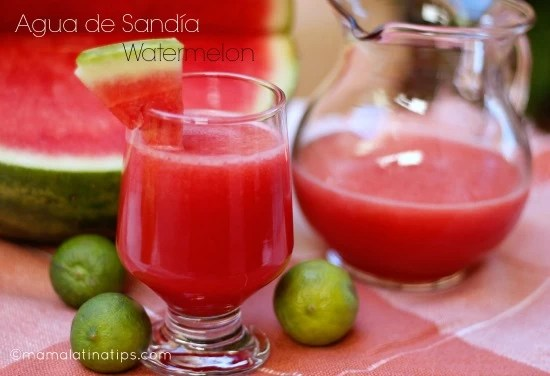 Agua de Sandía Watermelon Cooler Mama Latina Tips