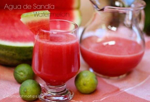 Agua de Sandía Watermelon Cooler Mama Latina Tips