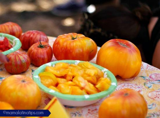 Heirloom tomato golden jubilee mamalatinatips