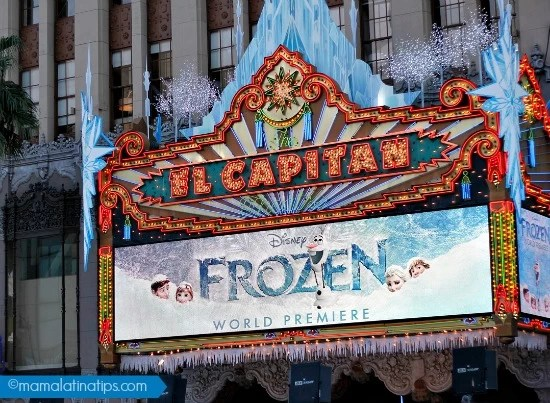 The Capitan Theater Frozen Marquee