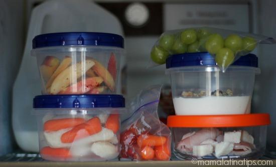 Snacks in the fridge