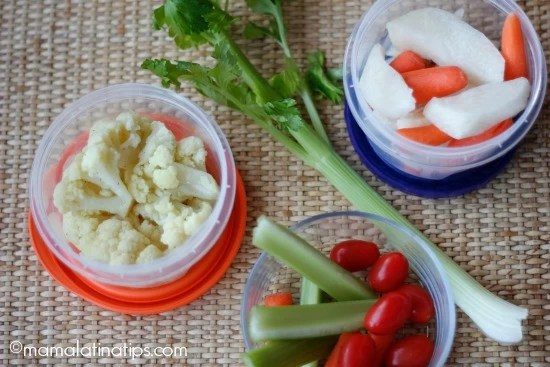 snacks with veggies - mamalatinatips.com