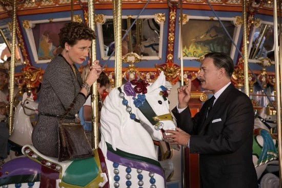 PL Travers and Walt Disney in Saving Mr. Banks