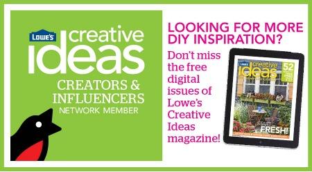 Lowe's Creative Ideas Badge Spring - mamalatinatips.com