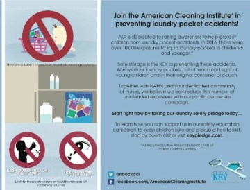 The American Cleaning Institute and the National Association of Hispanic Nurses join efforts in the Prevention of Laundry Packet Accidents