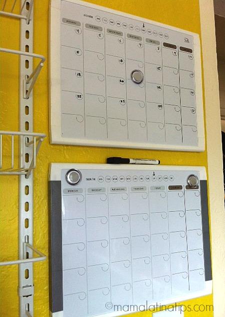 Dry erase calendars - mamalatinatips.com