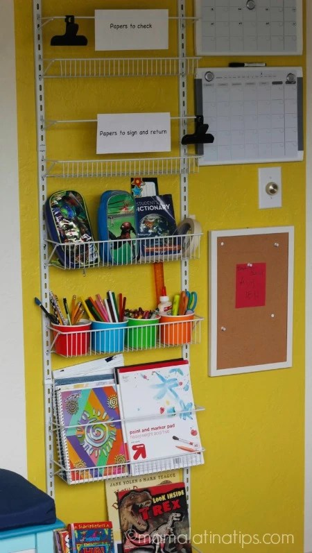 Back to School Organization Center - mamalatinatips.com