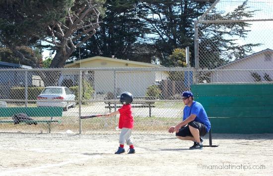 kid playing baseball