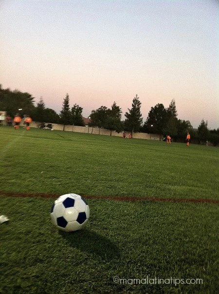 soccer ball on a field