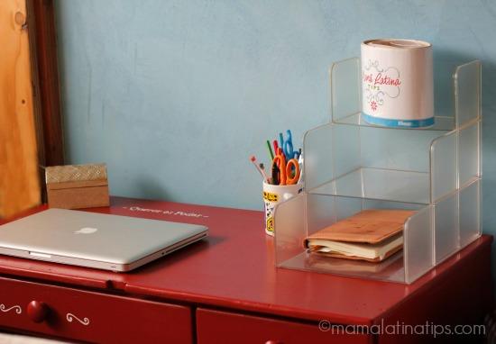 Office red desk