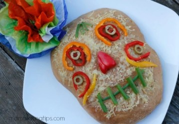 Day of the Dead Focaccia Style Cheese Bread