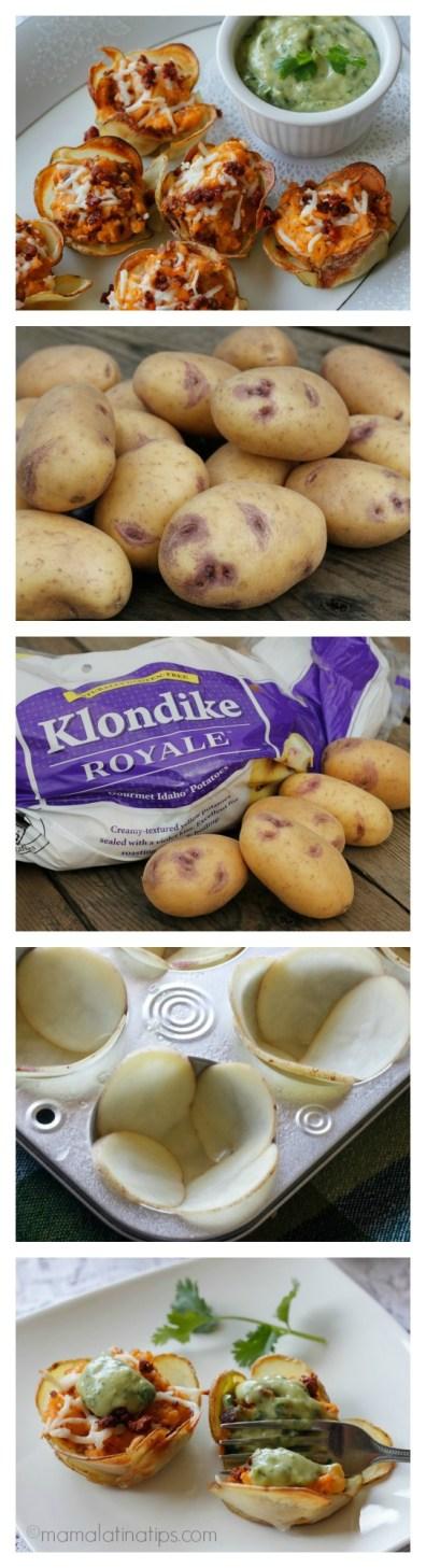 Klondike Royal potato baskets collage