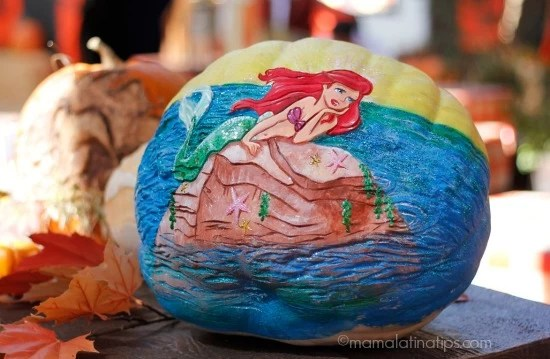 pumpkins at Disneyland - Ariel