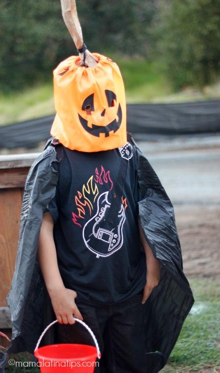 Pumpkin costume for halloween