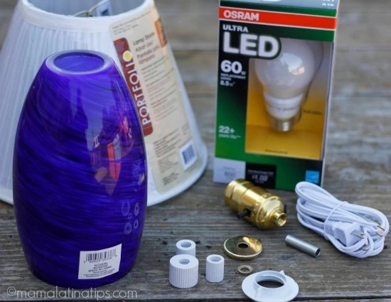 How to make a lamp from scratch - materials