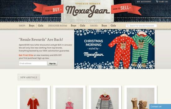 MoxieJean.com upscale resale store