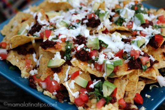 Nachos de chorizo a la mexicana