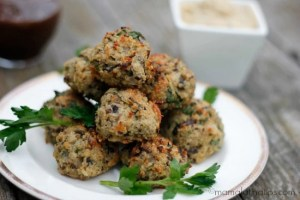 Quinoa and crimini mushroom balls