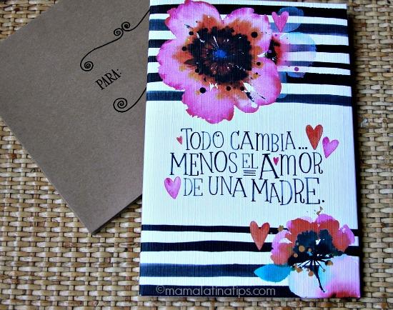 Tarjeta para Día de las Madres en español by mamalatinatips.com