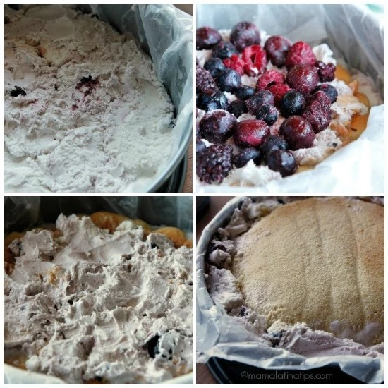 Cherry Vanilla-3 leches ice cream cake filling by mamalatinatips.com