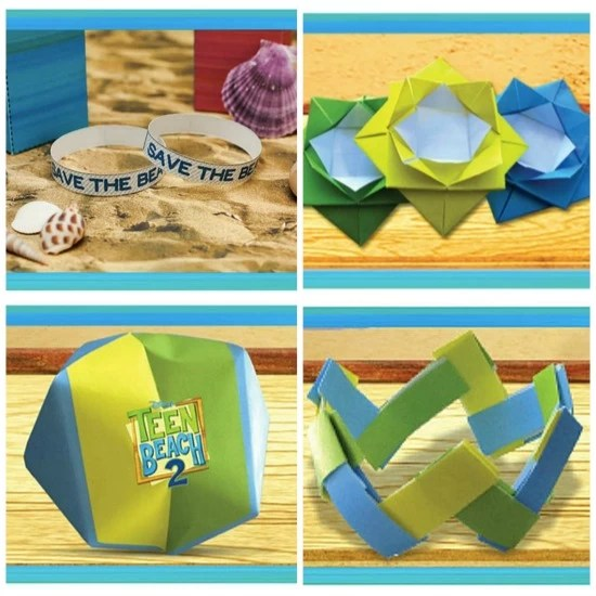 Paper crafts - Teen Beach Inspired party - mamalatinatips.com